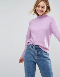 Read more about Asos jumper with wide sleeves in fluffy yarn - lilac