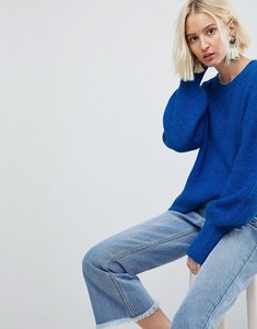 Read more about Vero moda knitted jumper with cuff details - blue