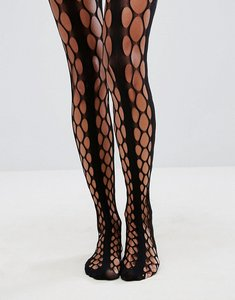 Read more about Asos grunge and stripe oversized fishnet tights - black