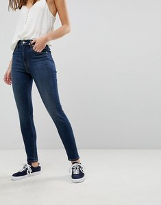 Read more about Levi s mile high super skinny jean in darkwash - lonesome trail
