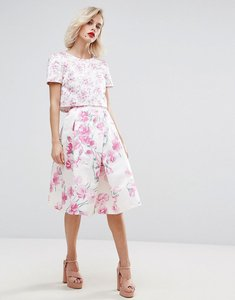 Read more about Horrockses blossom print midi skirt co-ord - multi pink print
