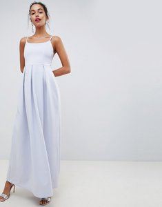 Read more about Asos design scuba scoop neck maxi prom dress - ice blue