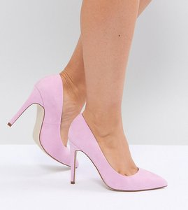 Read more about Asos paris wide fit pointed high heels - pink