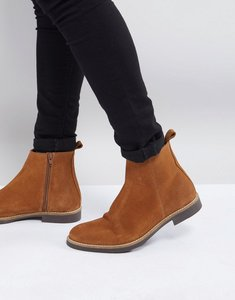 Read more about Zign suede chelsea boots in tan - tan