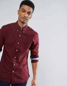 Read more about Polo ralph lauren slim fit poplin shirt buttondown in burgundy - fall burgundy