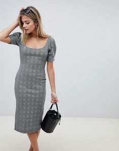Read more about Asos design check pencil dress with scoop neck - check