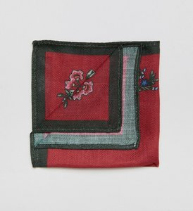 Read more about Asos pocket square in red floral - red