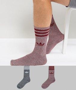 Read more about Adidas originals 2 pack crew socks in multi bq6018 - multi