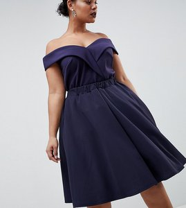 Read more about Club l plus prom skater skirt - navy