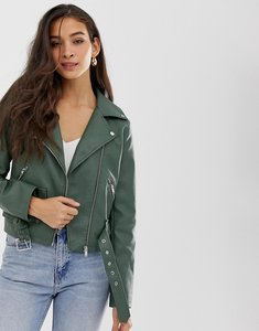 Read more about Vila belted faux leather biker jacket