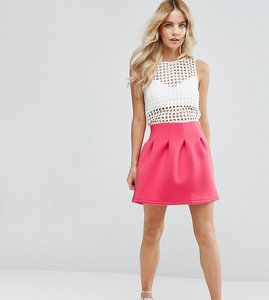 Read more about Asos petite mini prom skirt in scuba - coral