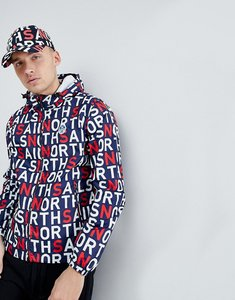 Read more about North sails stash packable windbreaker in all over logo print - combo 4