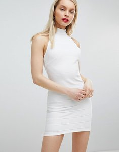 Read more about Miss selfridge halter bandage dress - white