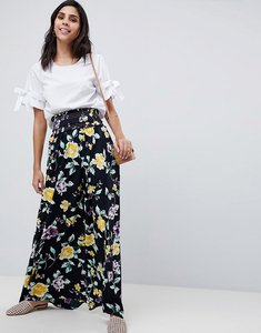 Read more about Asos design maxi skirt with shirred waist in floral print - multi