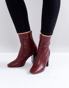 Read more about Raid kesha red block heeled ankle boots - bordo pu