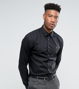 Read more about Farah tall classic shirt in slim fit with stretch - black