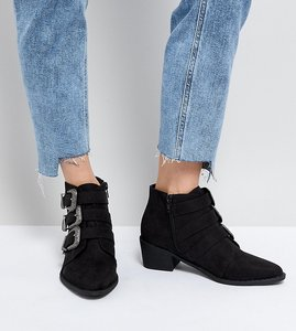 Read more about Truffle collection western heeled ankle boots - black