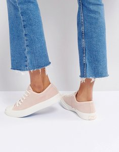 Read more about Converse jack purcell suede trainers in dusky pink - pink