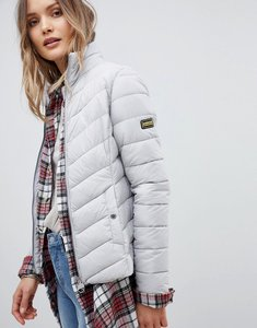 Read more about Barbour international aubern quilt jacket - ice white