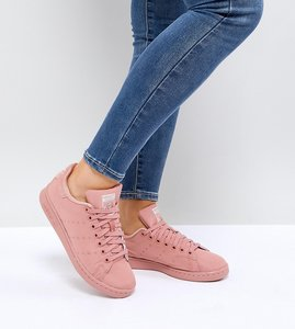 Read more about Adidas originals pink stan smith satin quilted trainers - pink