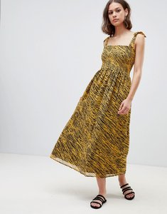 Read more about Ichi tiger print maxi dress - jurassic gold