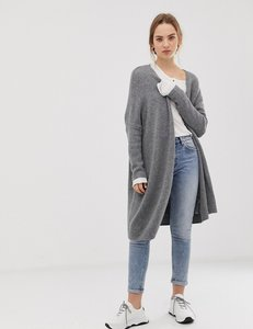 Read more about Asos design eco oversize cardigan in fluffy yarn - charcoal