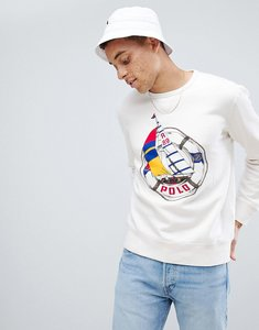 Read more about Polo ralph lauren cp-93 capsule sailboat large logo sweatshirt in white - deckwash white