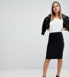 Read more about Asos petite high waisted pencil skirt - black