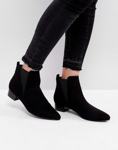 Read more about London rebel mid heel point boots - blk micro