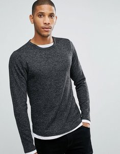 Read more about Brave soul long sleeve double layer top - grey