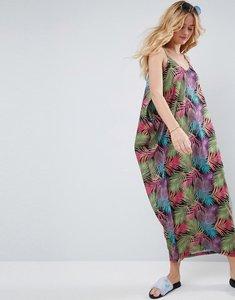 Read more about Asos drape hareem maxi dress in palm print - palm print