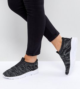 Read more about Asos village wide fit sock trainers - grey