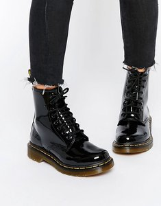 Read more about Dr martens modern classics 1460 patent 8-eye boots - black