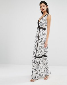 Read more about Self portrait clarissa maxi dress - white