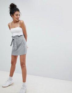 Read more about Bershka multi check mini skirt - multi