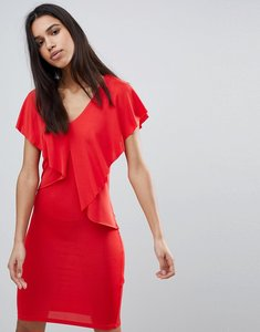 Read more about Y a s lou lou ruffle front dress - red