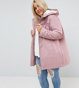 Read more about Asos curve borg raincoat - pink