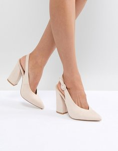 Read more about Raid brook block heeled shoes - nude suede