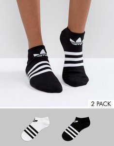 Read more about Adidas originals 3 stripe 2 pack socks - multi