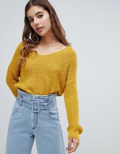 Read more about Jdy knit v-neck jumper - yellow
