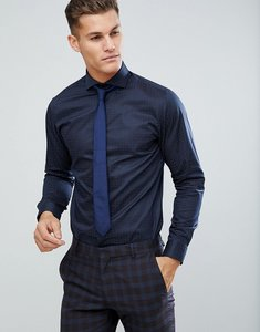Read more about Selected homme slim shirt with cutaway collar - navy blazer
