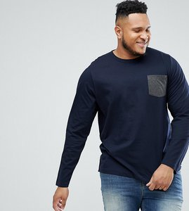Read more about French connection plus long sleeve pocket top - navy