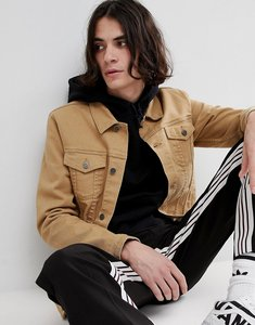 Read more about Asos skinny denim jacket in tan - tan