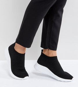 Read more about Asos darlington sock trainers - black