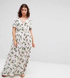 Read more about Alice you floral maxi tea dress - multi