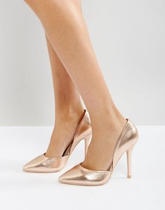 Read more about Glamorous rose gold heeled court shoes - rose gold