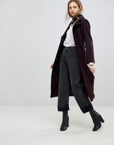 Read more about Helene berman wool and cashmere blend longline belted coat - burgundy