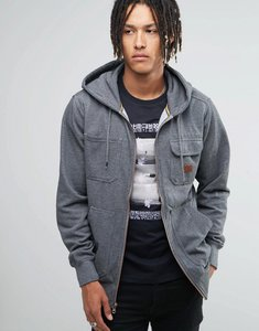Read more about Billabong zip up hoodie with chest pocket - grey