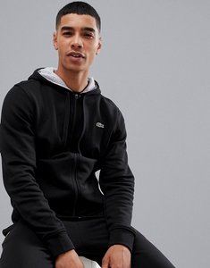 Read more about Lacoste sport hoodie sweat in black - black