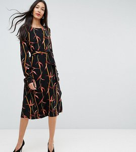 Read more about Y a s tall printed midi dress - multi